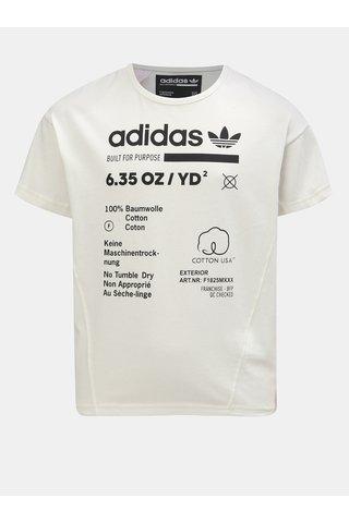 Krémové dětské tričko s potiskem adidas Originals