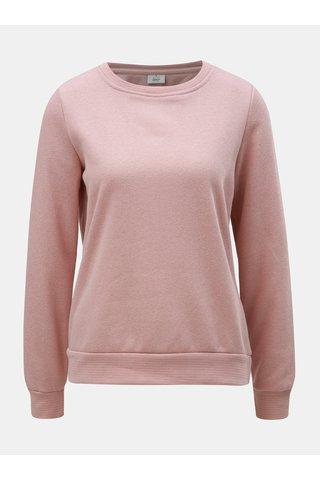 Bluza sport roz prafuit melanj ONLY