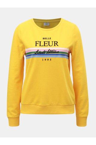 Bluza sport galbena cu imprimeu ONLY