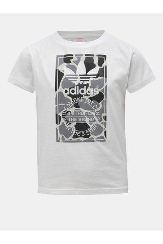 Bílé klučičí tričko s potiskem adidas Originals