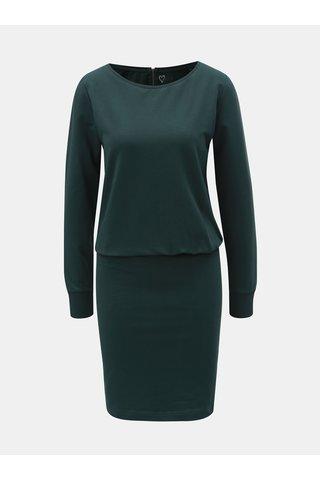 Rochie verde inchis mulata cu maneci lungi ONLY