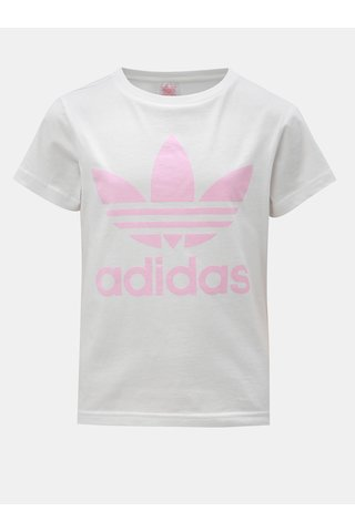 Bílé holčičí tričko s potiskem adidas Originals