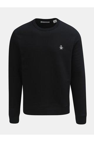 Bluza sport neagra cu decolteu rotund Original Penguin Fleece