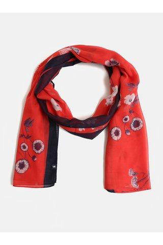 Modro-červený dámský květovaný šátek Tom Joule