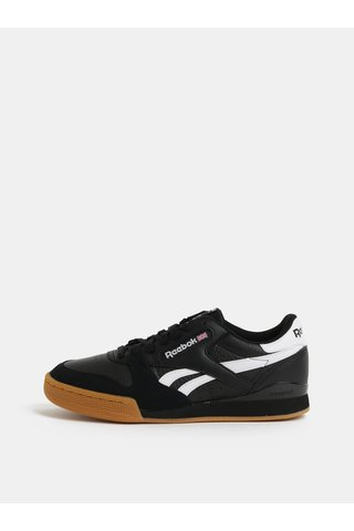 Pantofi sport barbatesti negri din piele Reebok Phase