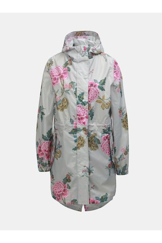 Jacheta impermeabila gri deschis florala de dama Tom Joule