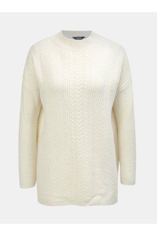 Pulover oversize crem de dama cu amestec de lana Tom Joule