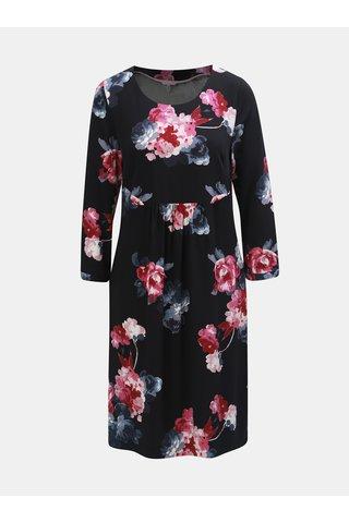 Rochie roz-negru florala cu maneci 3/4 Tom Joule