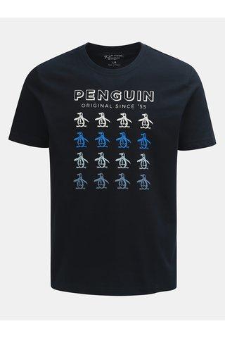 Tmavě modré tričko s krátkým rukávem a potiskem Original Penguin