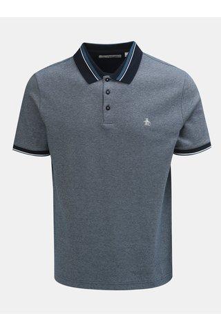 Modré žíhané polo tričko s krátkým rukávem Original Penguin