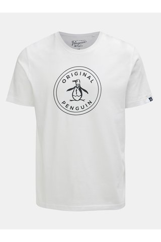 Bílé tričko s potiskem Original Penguin
