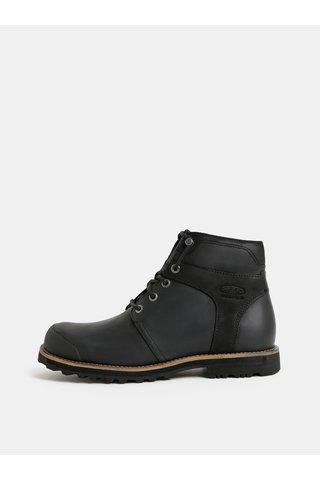 Černé pánské kožené voděodolné kotníkové boty Keen Rocker