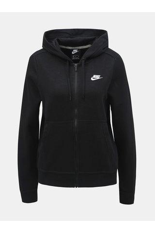 Černá dámská mikina na zip Nike