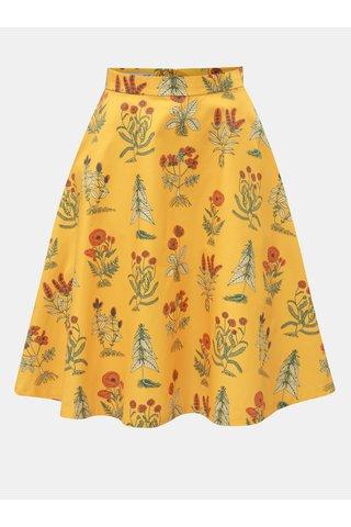 Oranžová sukně s motivem květin annanemone