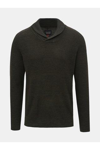 Tmavě zelený svetr s límcem Blend