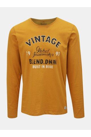 Hořčicové tričko s nápisem Blend