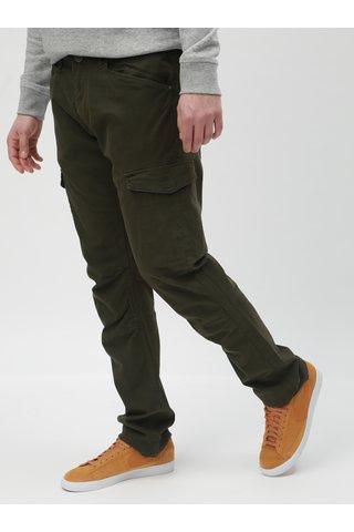 Khaki regular fit kalhoty s kapsami Blend