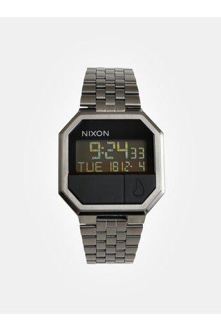 Hodinky s tmavě šedým nerezovým páskem NIXON