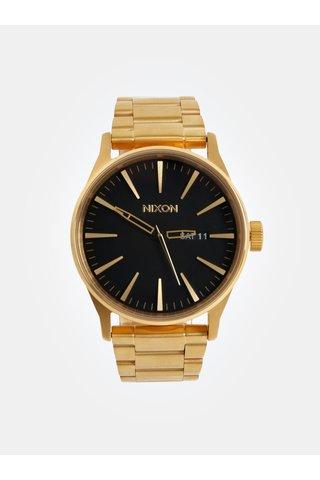 Pánské hodinky s nerezovým páskem ve zlaté barvě NIXON
