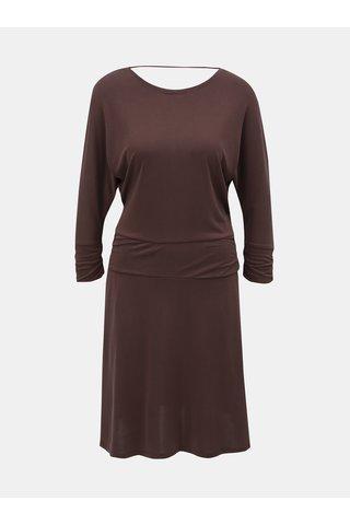 Hnědé šaty s hlubokým výstřihem na zádech prAna Simone