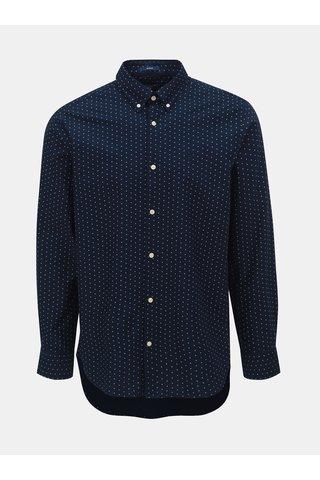Tmavě modrá pánská vzorovaná regular košile GANT