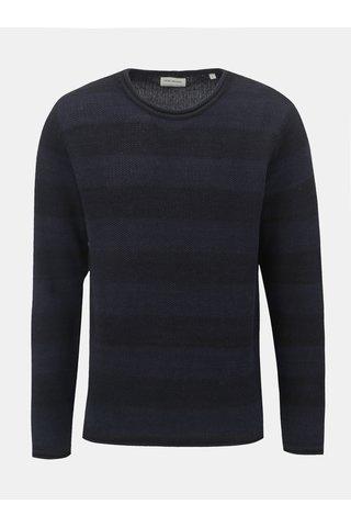 Tmavě modrý pruhovaný svetr Shine Original Roll edge