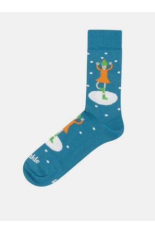 Tyrkysové dámské ponožky Fusakle Krasokorculiarka