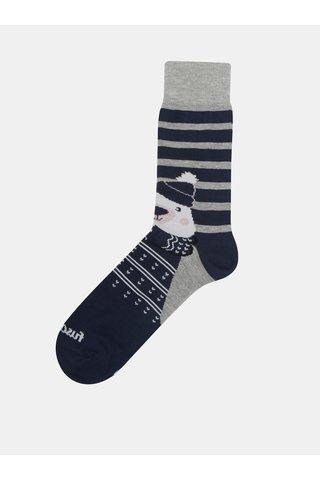 Tmavě modré unisex ponožky s motivem medvěda Fusakle Polar Maco