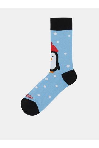 Světle modré unisex ponožky s motivem tučňáka Fusakle Pingu