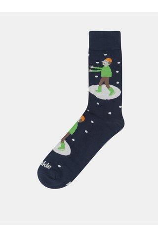 Tmavě modré unisex ponožky Fusakle Krasokorculiar