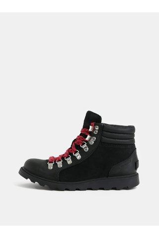 Černé dámské kožené kotníkové boty SOREL AINSLE CONQUEST