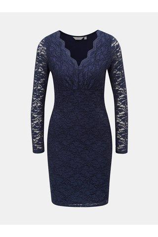 Tmavě modré krajkové šaty se třpytivým efektem Dorothy Perkins Petite