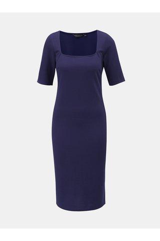 Modré pouzdrové šaty s krátkým rukávem Dorothy Perkins Tall