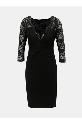 Černé pouzdrové šaty s krajkovými detaily Dorothy Perkins