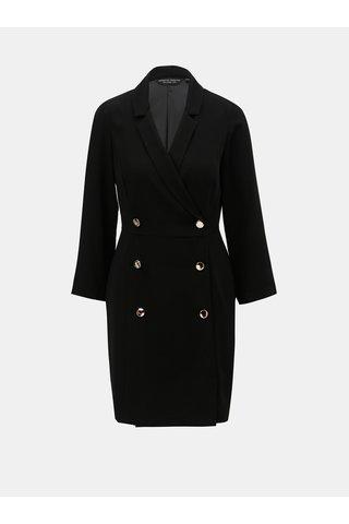 Černé šaty s knoflíky ve zlaté barvě Dorothy Perkins