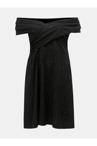Černé třpytivé šaty Dorothy Perkins Curve