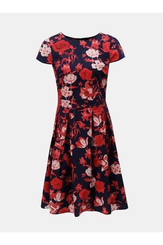 Červeno-modré květované šaty Dorothy Perkins