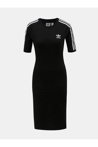 Černé šaty s krátkým rukávem adidas Originals