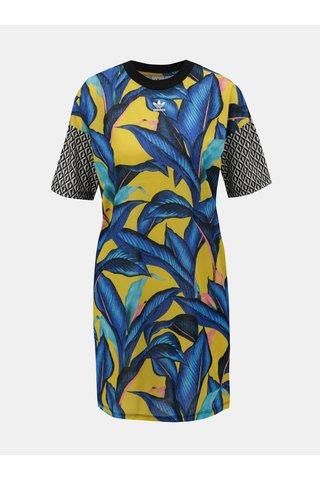 Žluto-modré šaty se vzorem adidas Originals
