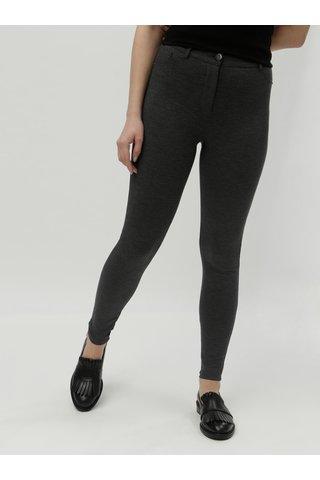 Tmavě šedé vzorované skinny kalhoty s vysokým pasem Dorothy Perkins