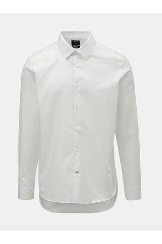 Bílá formální slim fit košile Burton Menswear London