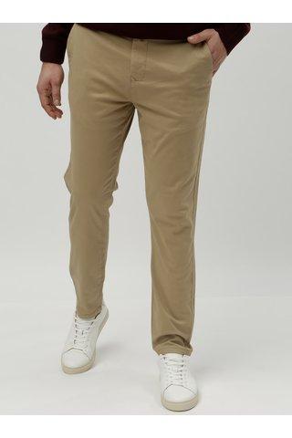 Béžové tapered chino kalhoty Burton Menswear London