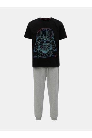 Černo-šedé pyžamo s motivem Star Wars Burton Menswear London