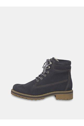 Tmavě šedé semišové kotníkové boty Tamaris