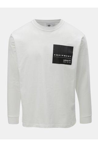 Bílé pánské tričko s potiskem na zádech adidas Originals
