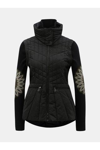 Černá prošívaná bunda/vesta se skrytou kapucí Desigual Elysian