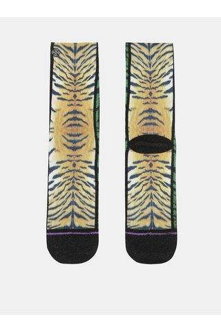 Oranžovo-černé dámské ponožky s tygřím vzorem XPOOOS