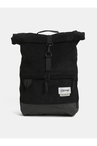 Černý manšestrový batoh s variabilními popruhy Eastpak Two Cords 24 l
