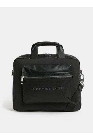 Černá pánská taška na notebook s odnímatelným popruhem Tommy Hilfiger