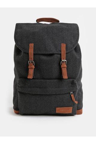 Tmavě šedý batoh se semišovými detaily Eastpak Fleather 21 l